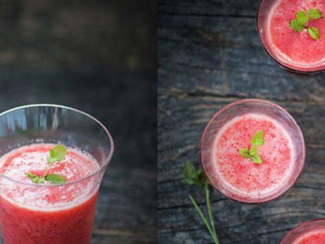 Sweet and yummy vegan watermelon juice