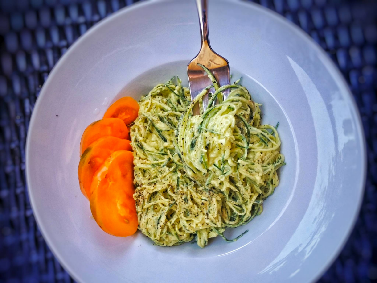 Creamy vegan cauliflower alfredo pasta