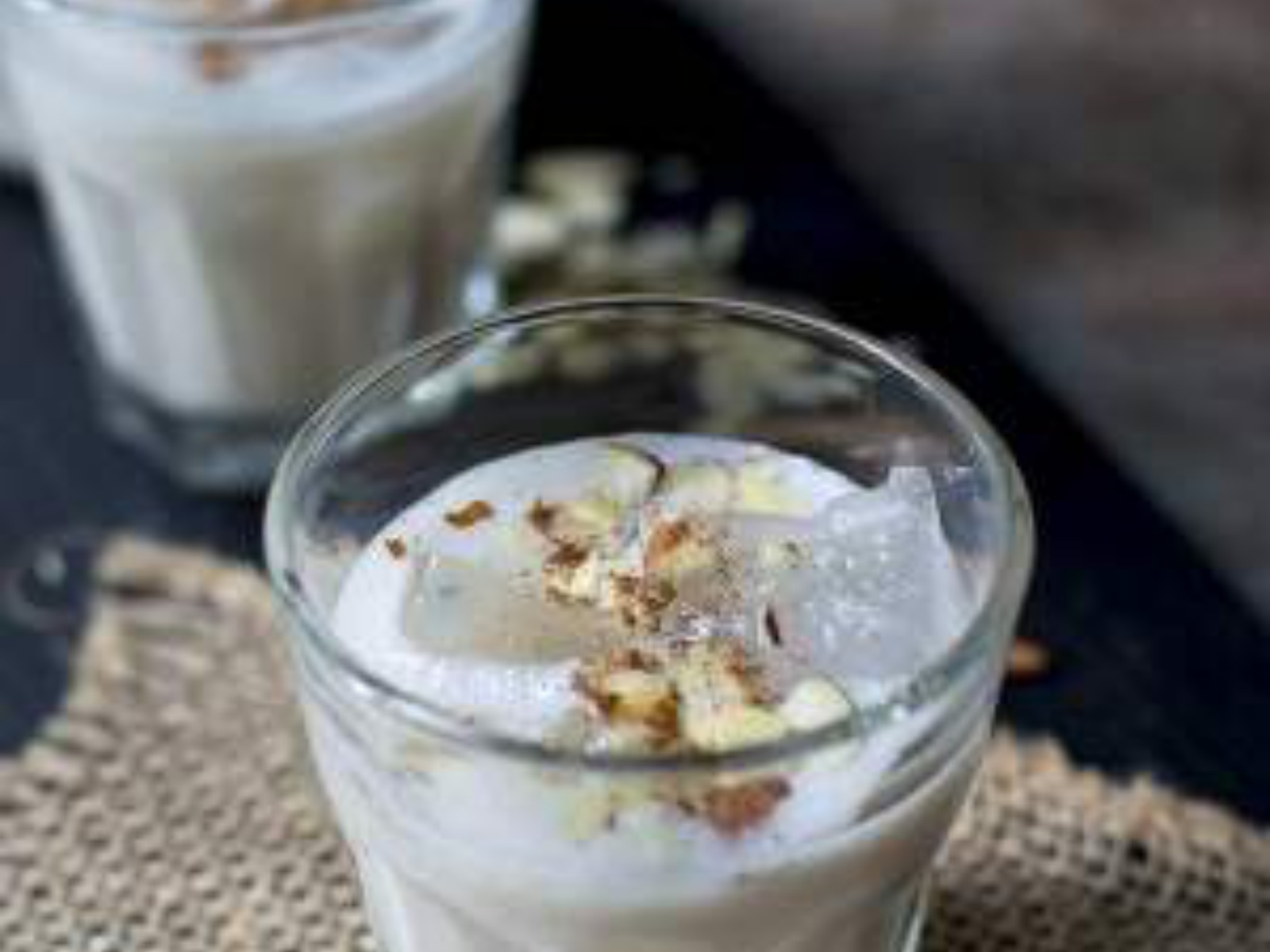 Refreshing almond drink for hot summer day