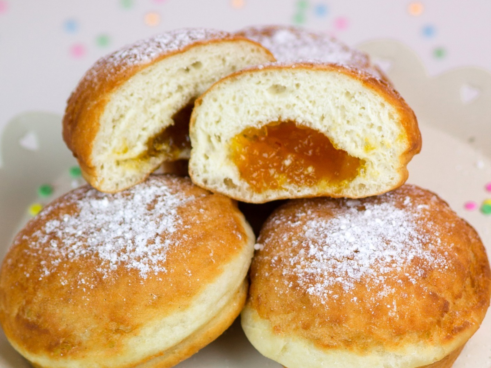 Apricot Jam Doughnuts