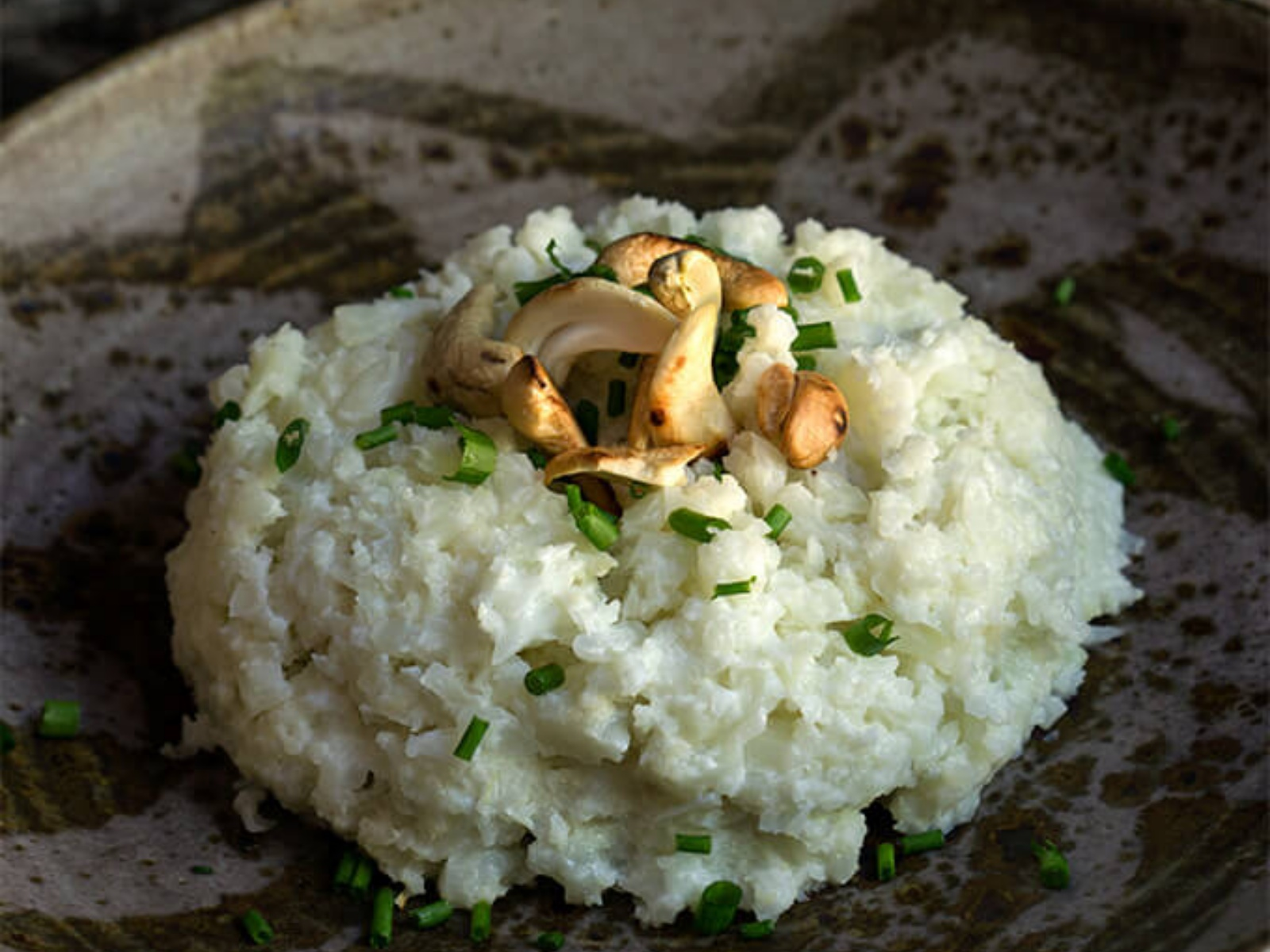 Vegan cauliflower risotto