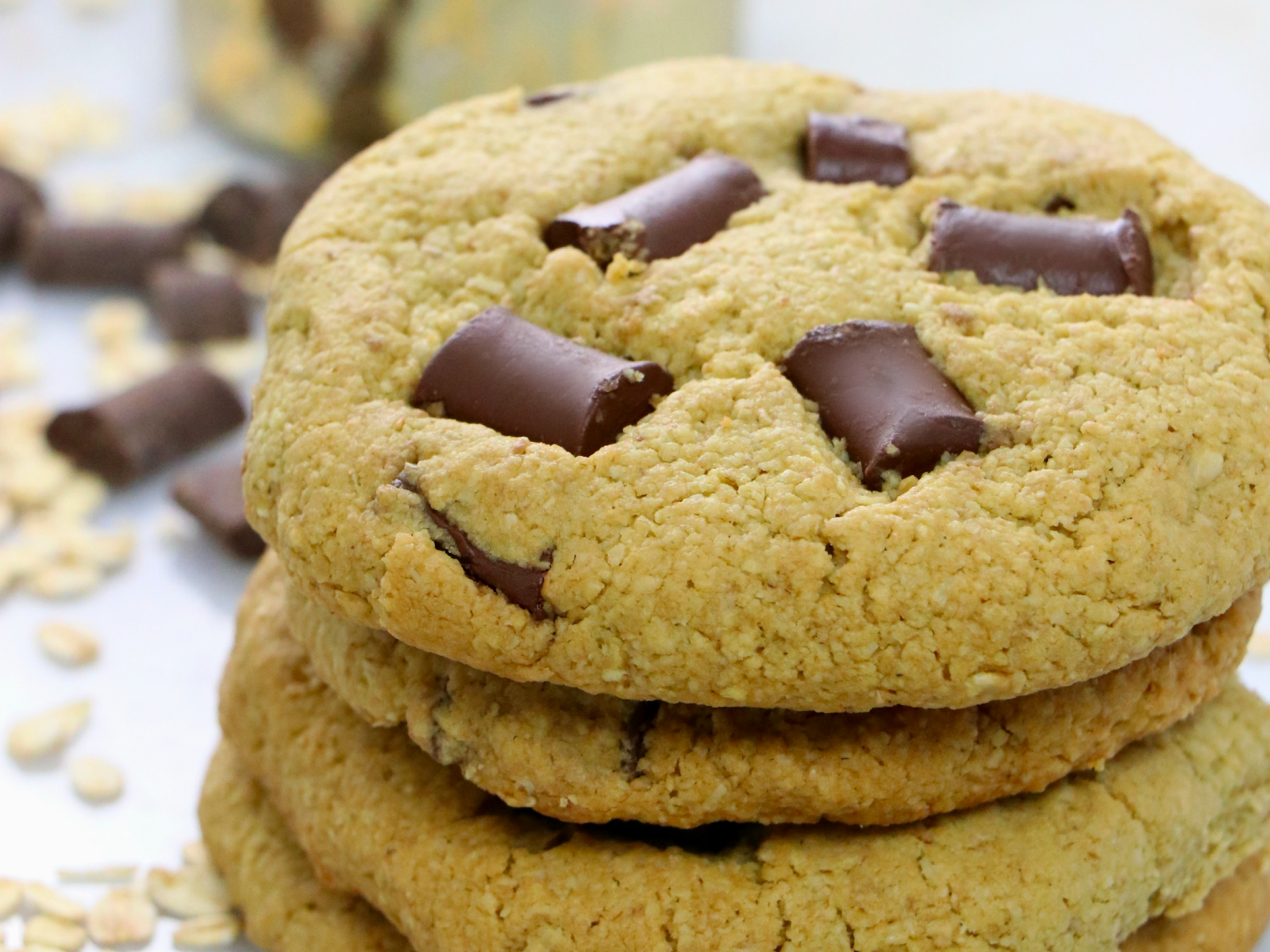 Gluten Free Vegan Oat Chocolate Chip cookies