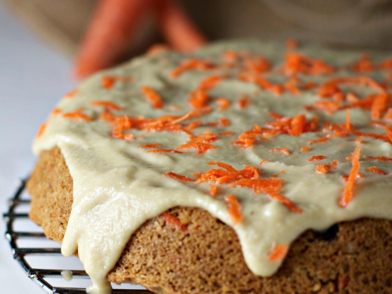 Vegan Orange Scented Carrot Cake With Cashew Cream Frosting