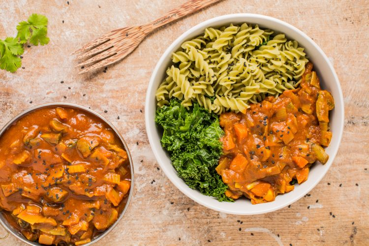 vegan mushroom tomato sauce for pasta