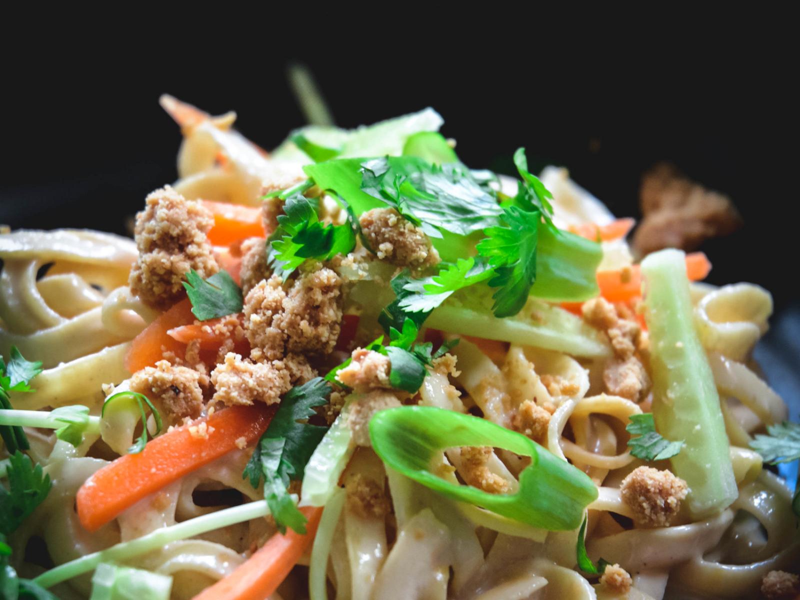 vegan rutabaga noodles