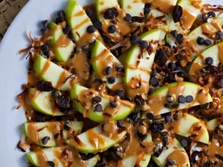 Vegan Loaded apple nachos