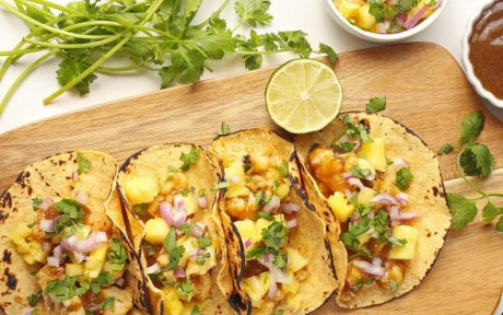 Teriyaki Cauliflower Tacos with Pineapple Salsa