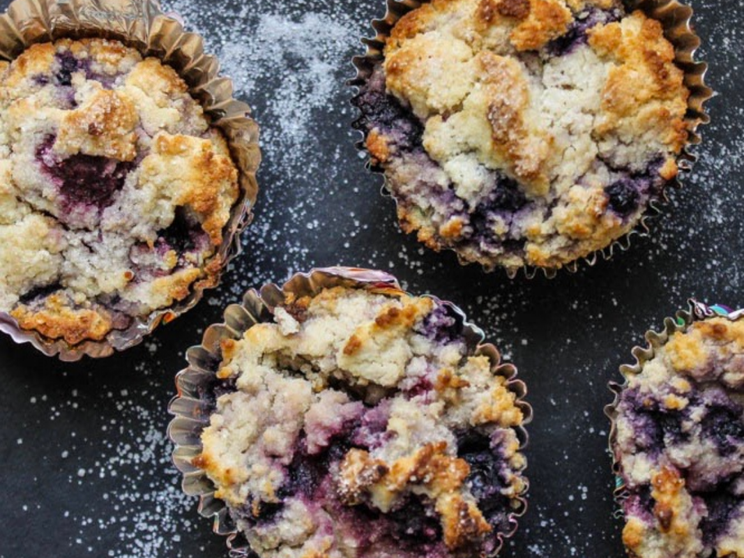 Delicious mixed berry vegan muffins