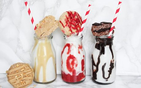 Dairy-free coconut milkshakes and cookies