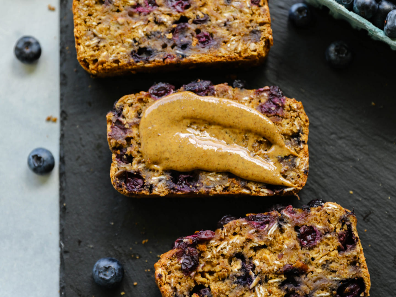 Healthy blueberry bread