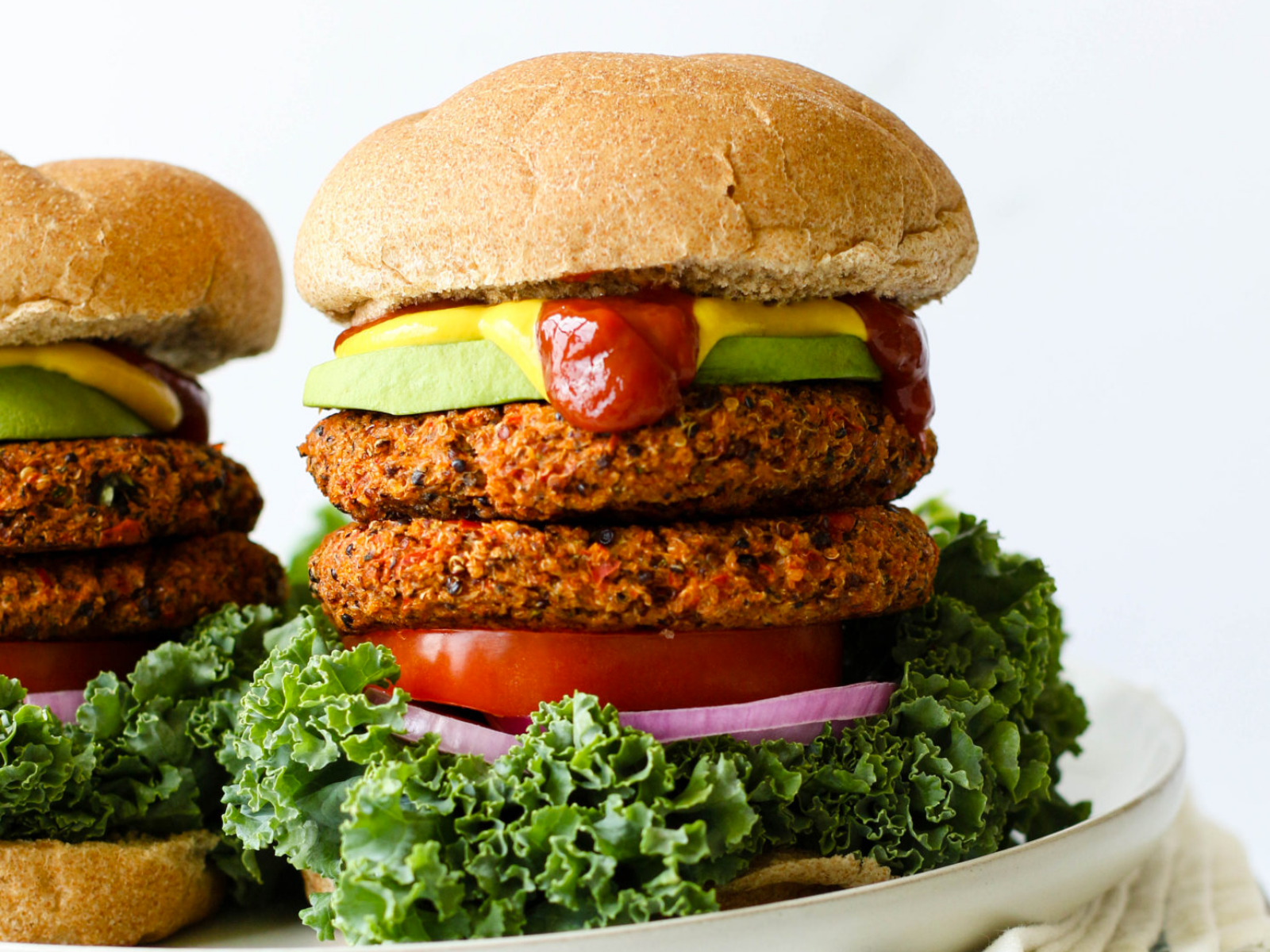 Protein packed quinoa burger