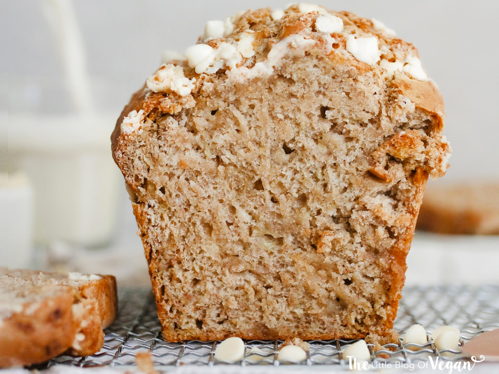 Vegan Easy White Chocolate Chip Banana Bread