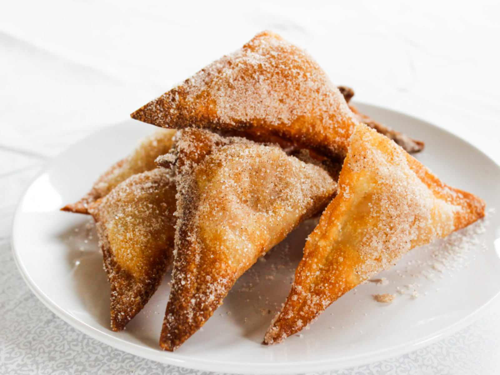 Vegan Apple Pie Wontons