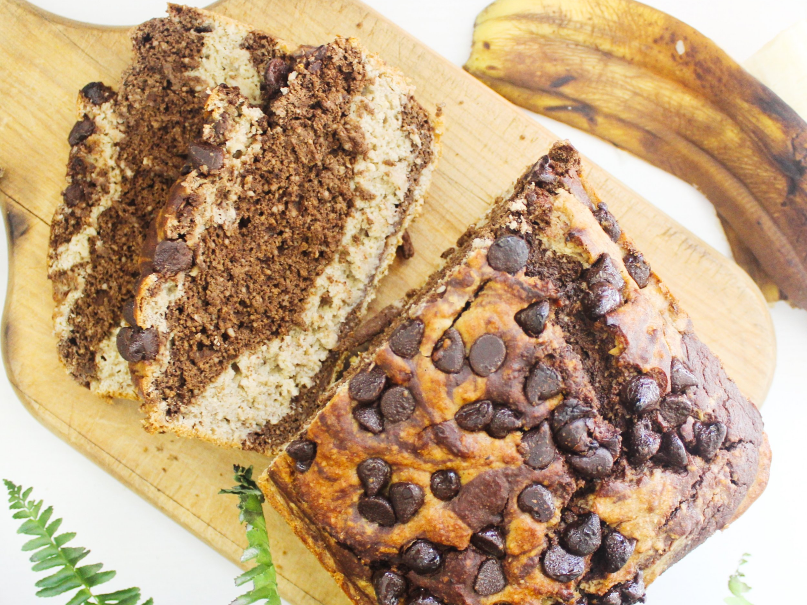moist vegan chocolate banana bread