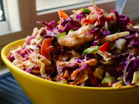 vegan spicy coleslaw with a kick