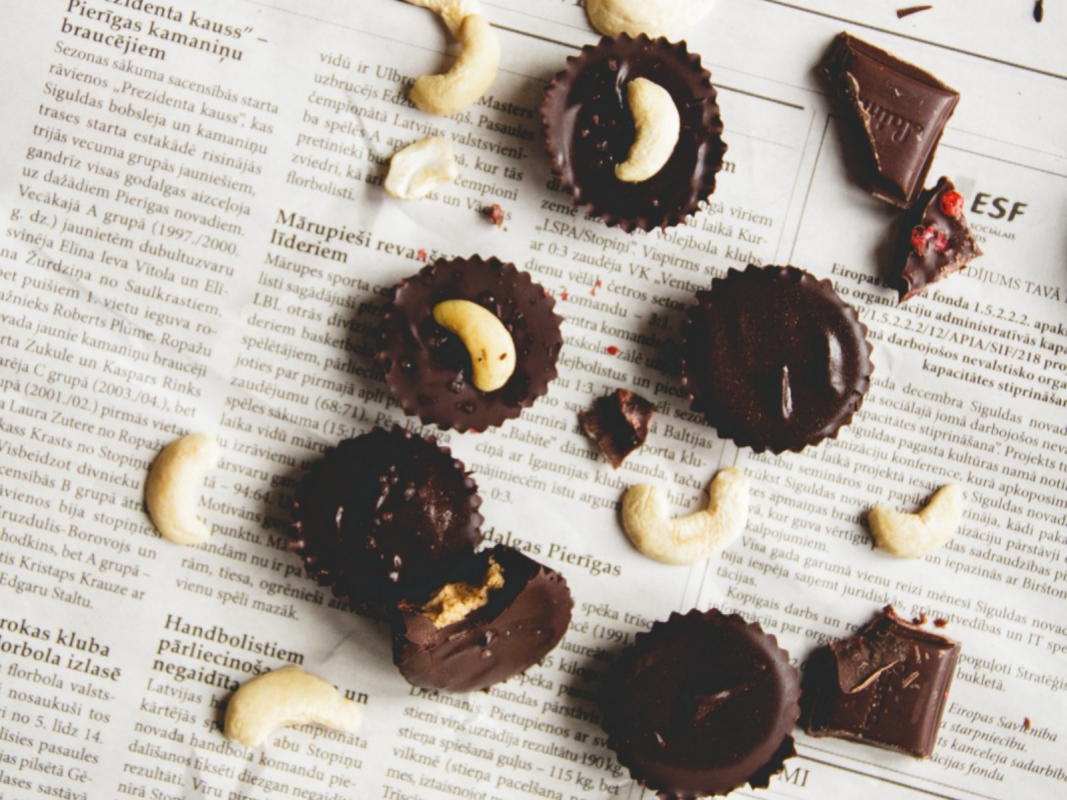Salted Chocolate Cashew Butter Cups