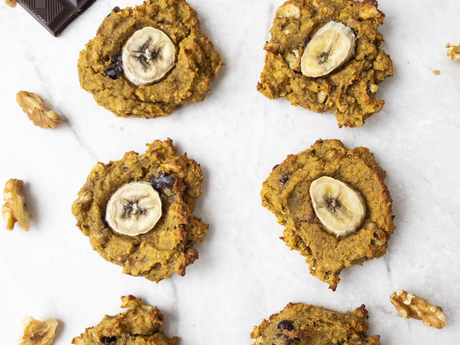 Vegan Chunky Monkey Banana Protein Cookies