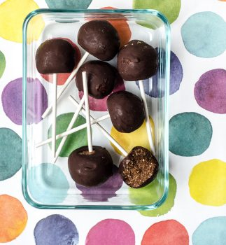 vegan nut and date lollipops