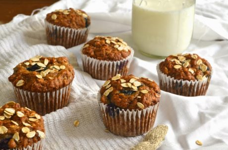Blueberry Oat Muffins [Vegan]