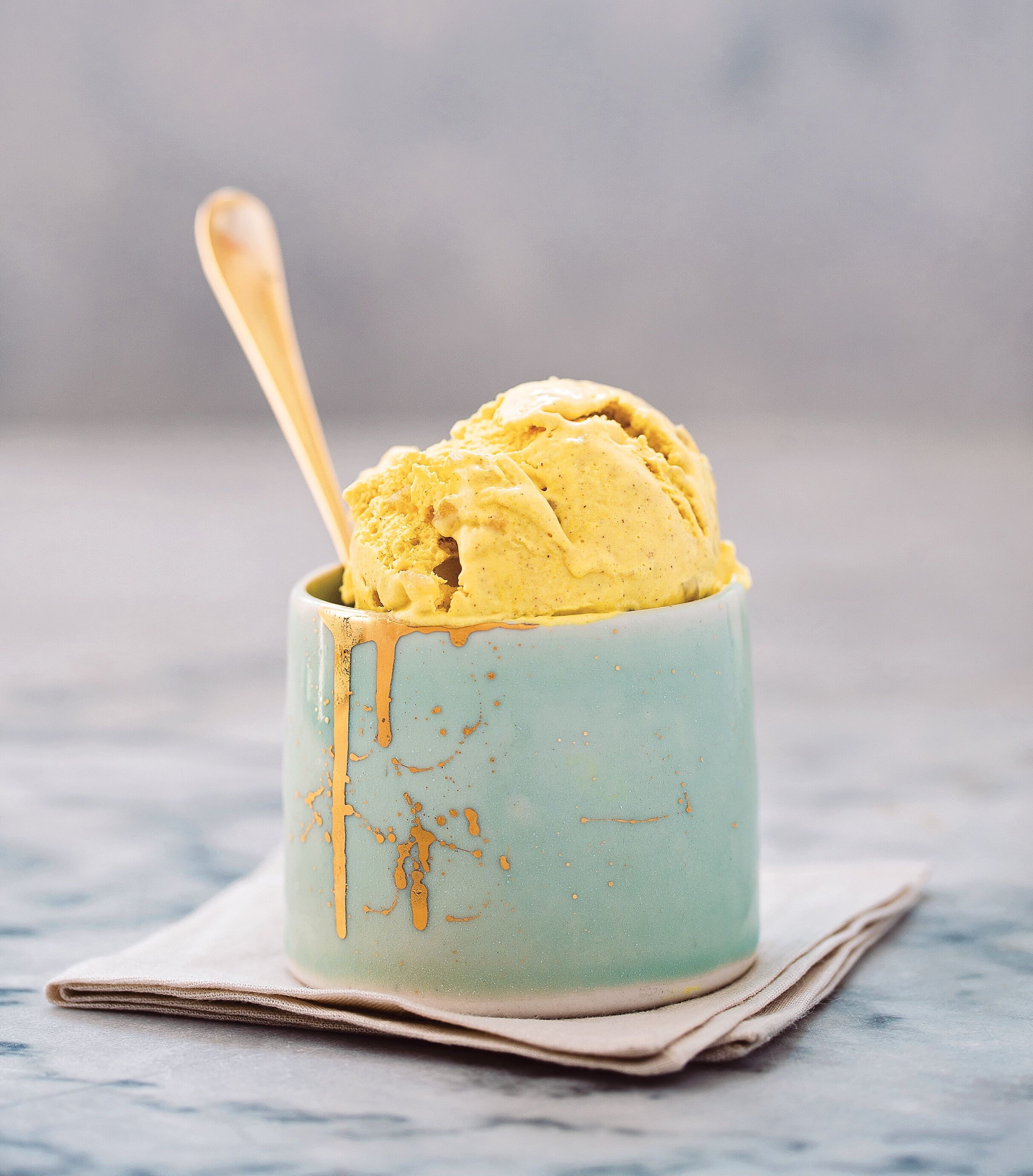 vegan turmeric ginger anti-inflammatory golden milk ice cream