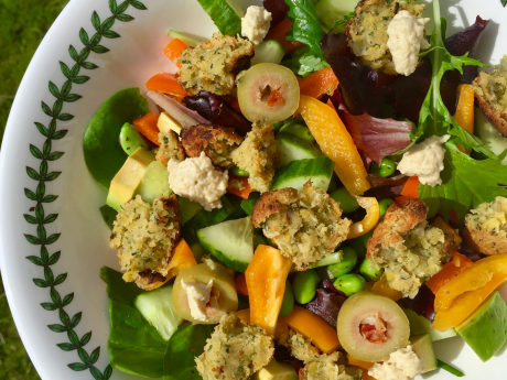vegan super food falafel salad