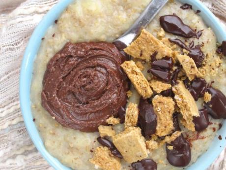 vegan smore's oatmeal
