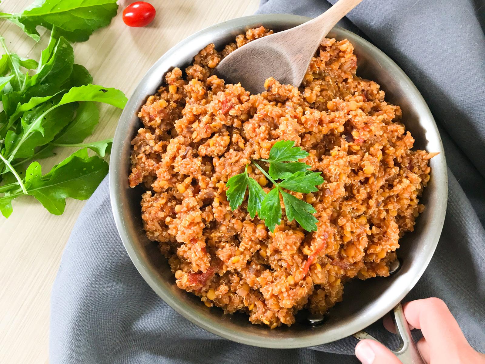 Vegan Quinoa that tastes like baked beans