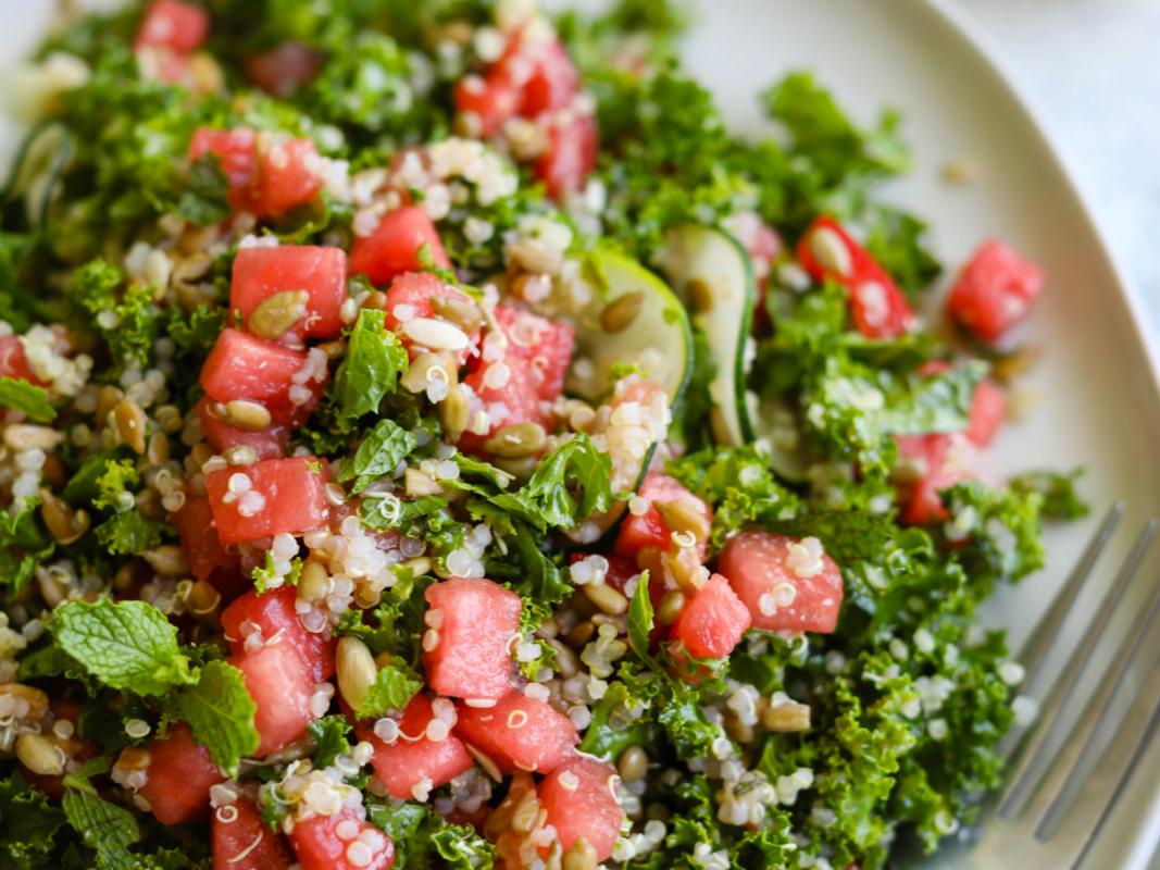 Vegan Watermelon Quinoa Kale Salad