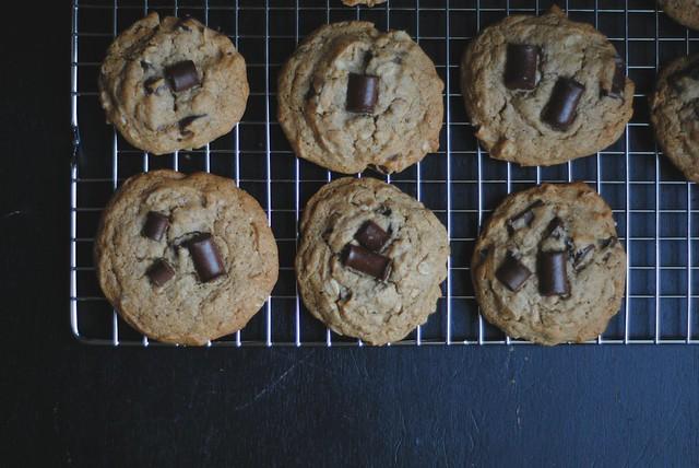 Chocolate Chip Peanut Butter Cookies [Vegan, Gluten-Free]