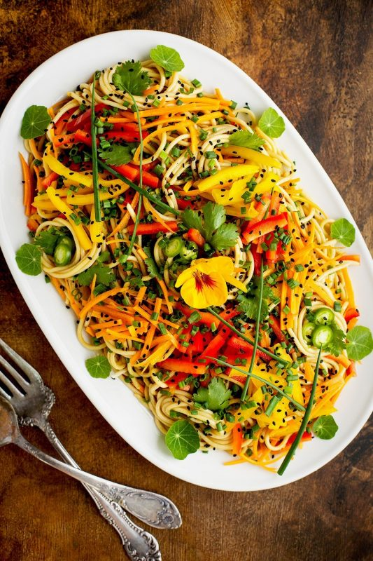 Vegan Asian Sesame Noodle Salad