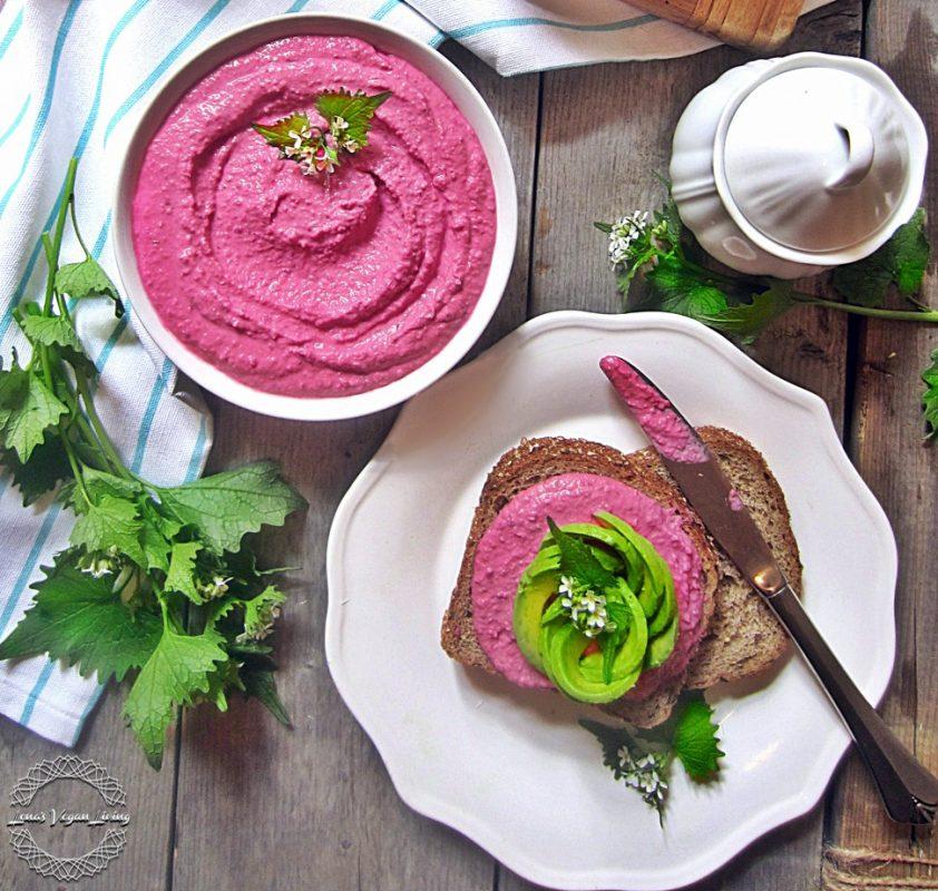 Vegan Pink Hummus