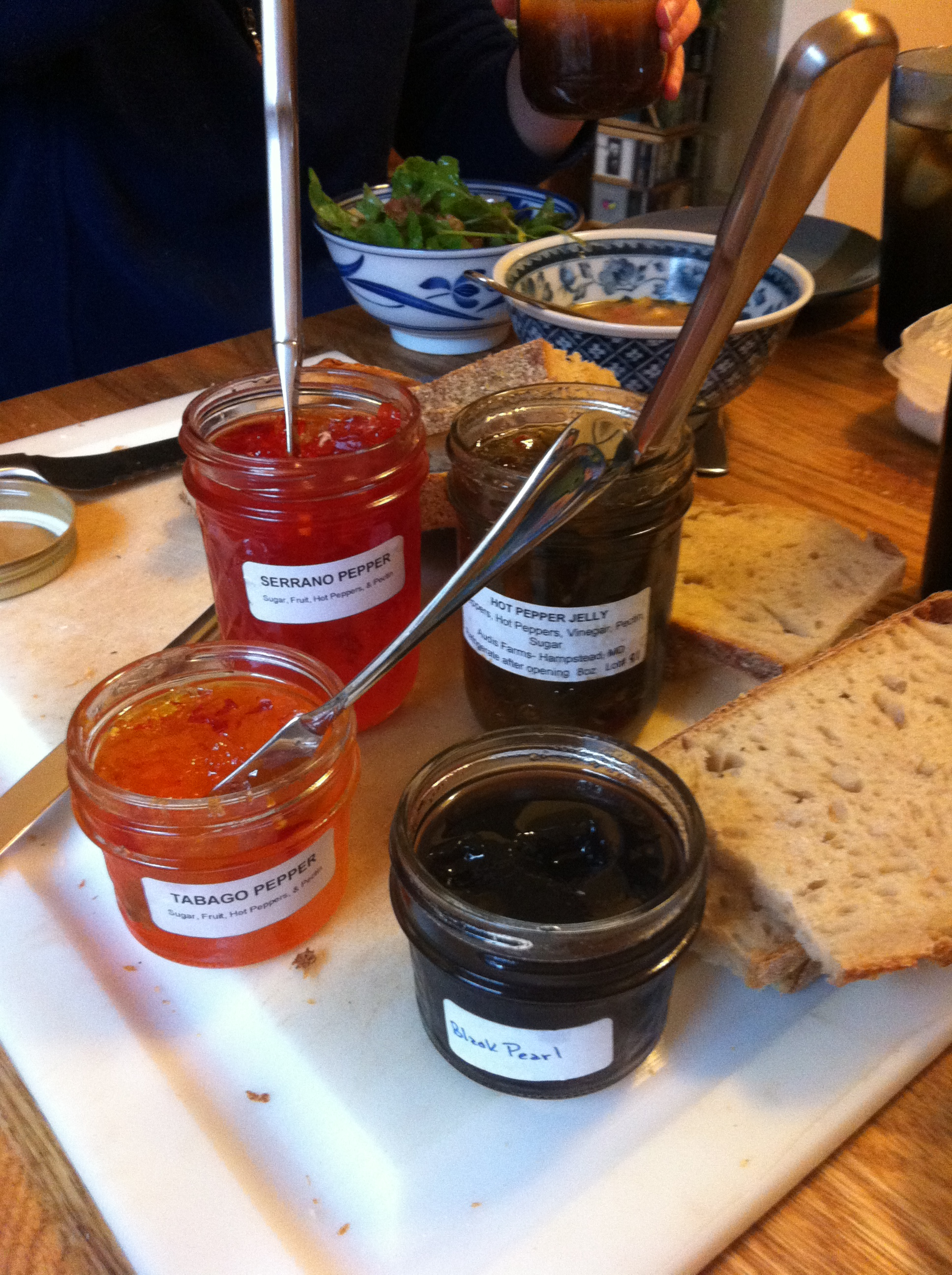 Savory jams made of peppers
