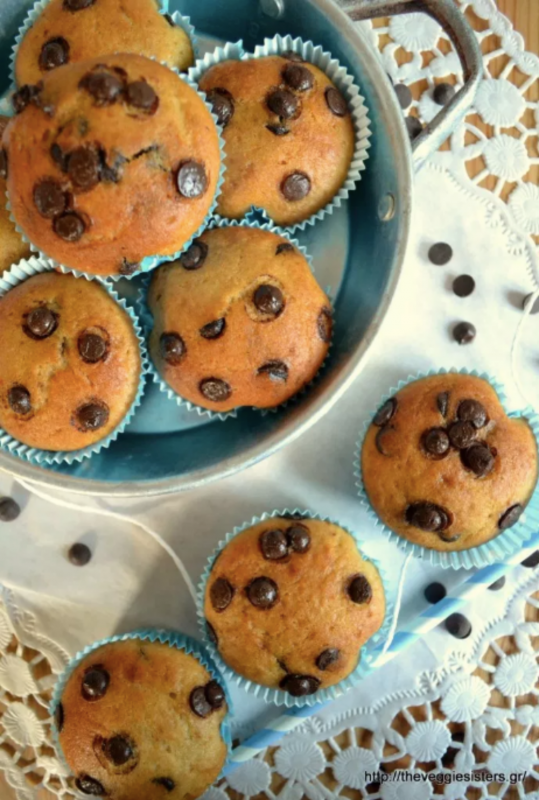 Vegan Banana Chocolate Chip Muffins