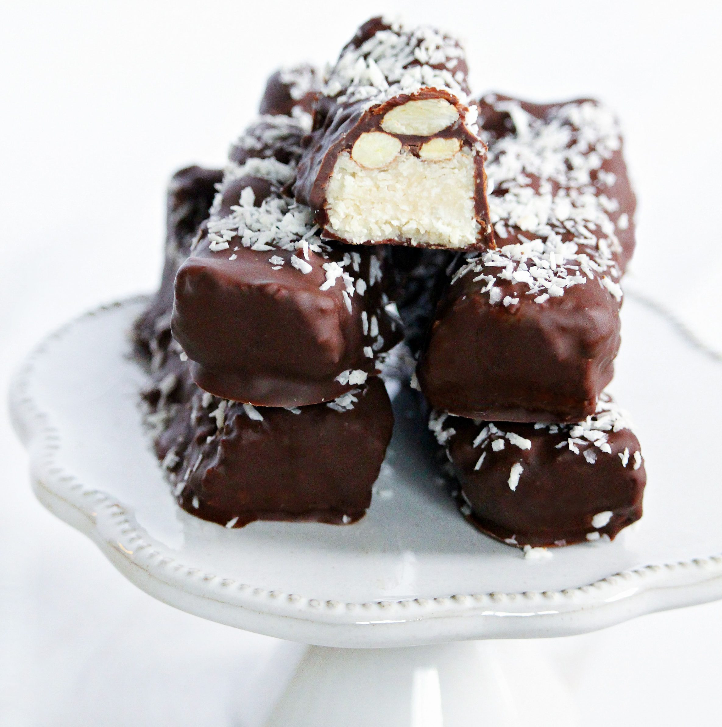 vegan, gluten-free and refined sugar-free almond joy bars