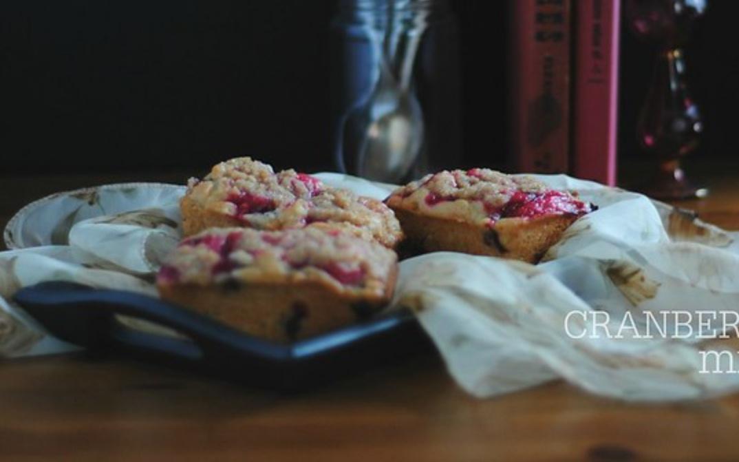 cranberry swirl mini loaves