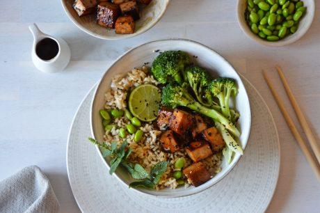 vegan crispy marinated tofu