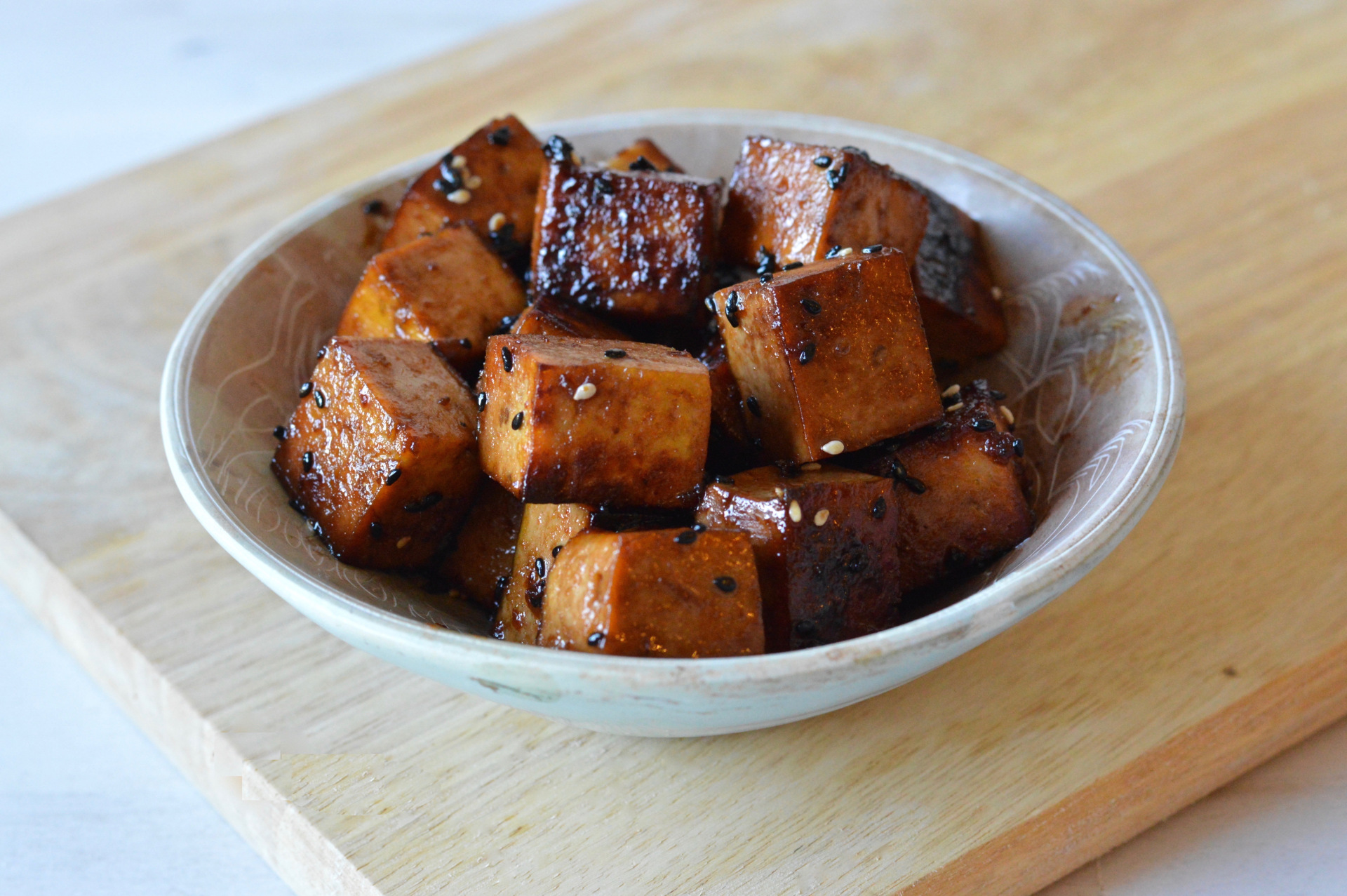 vegan crispy marinated tofu