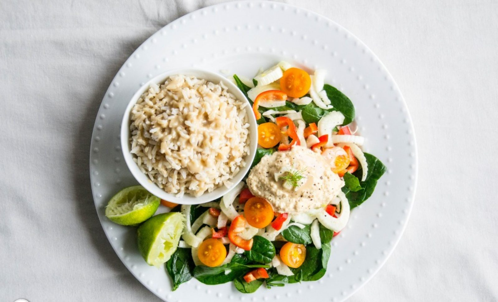 fennel and brown rice salad