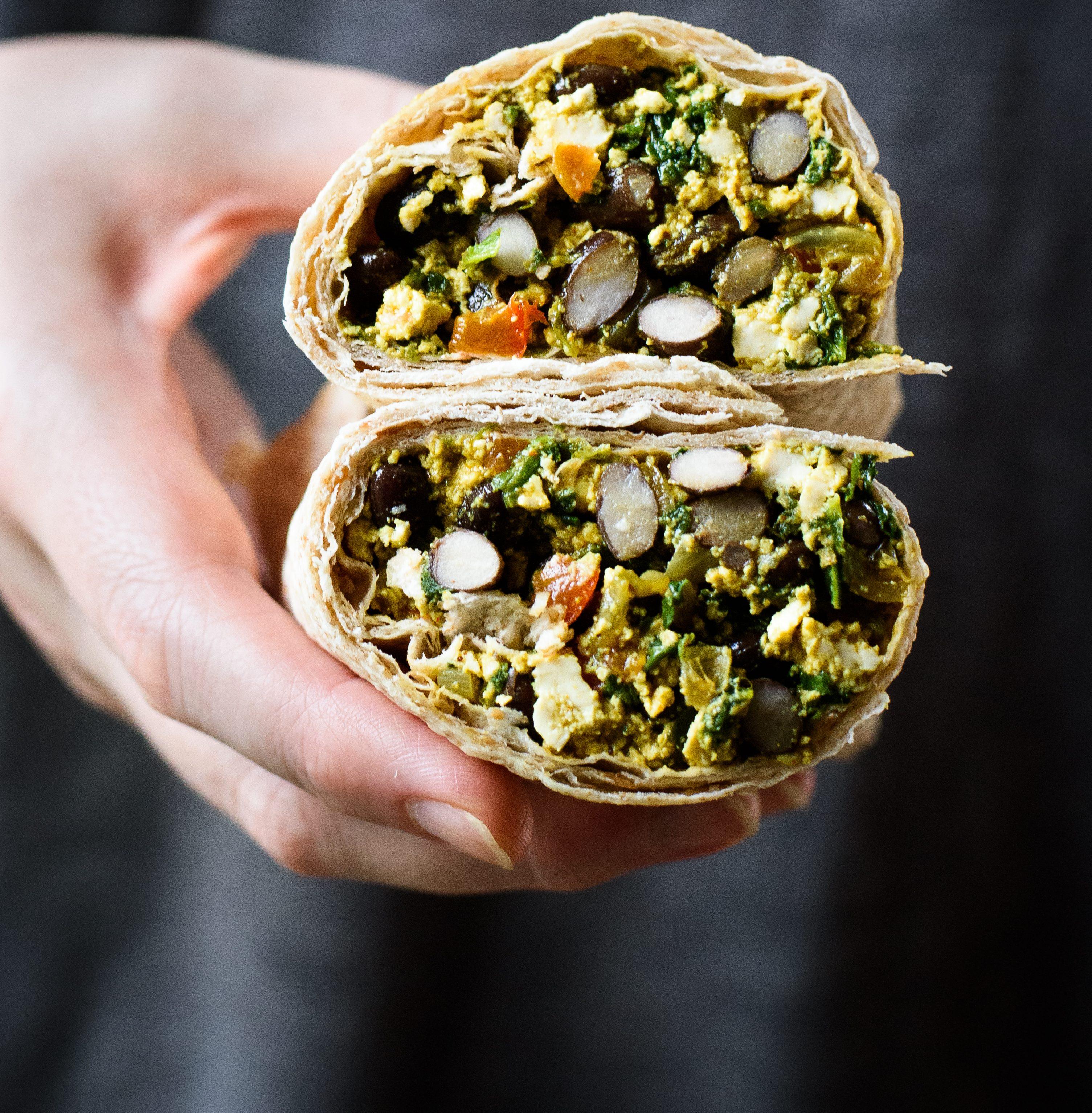 Vegan Freezer-Friendly Breakfast Burritos
