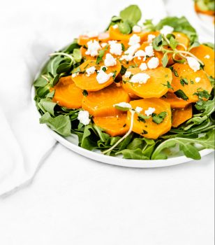 Golden Beet Salad with goat cheese