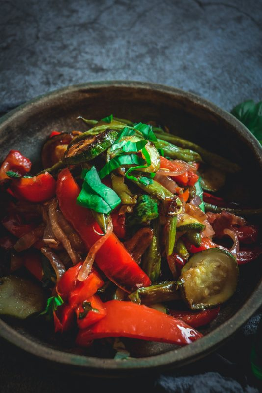 Vegan Grilled Vegetables with Balsamic and Basil