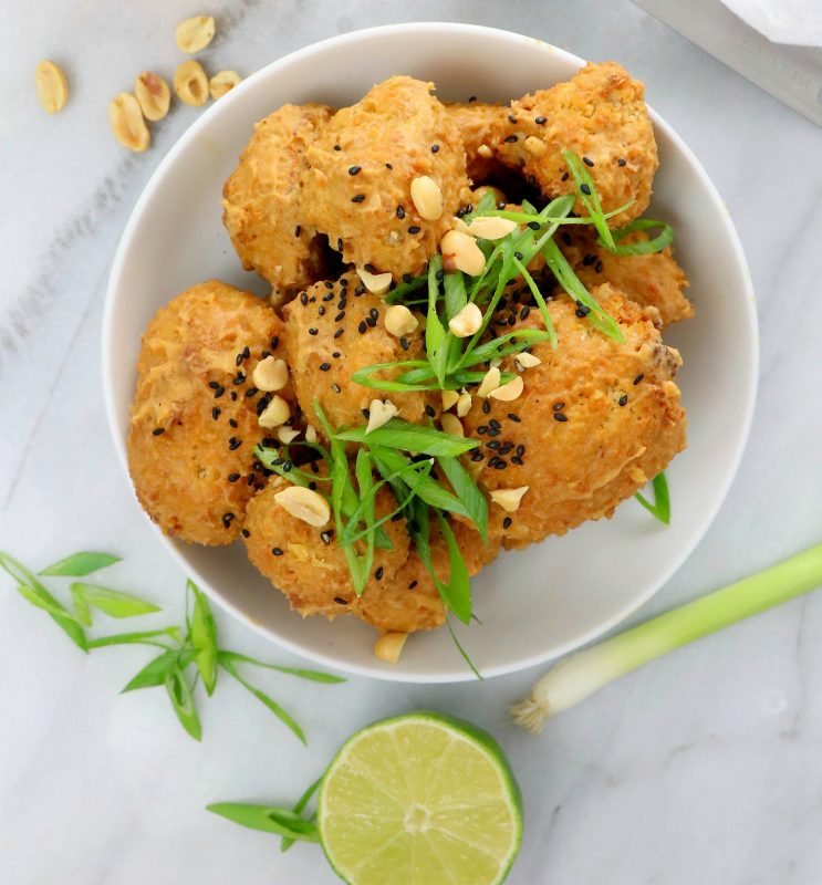 Vegan Thai Peanut Cauliflower Wings