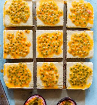 vegan Passionfruit Yogurt Slice