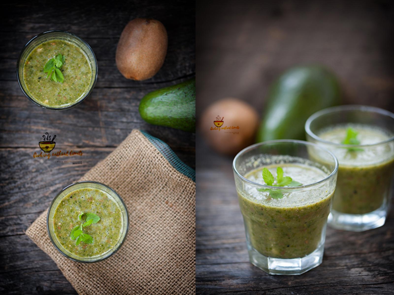 Vegan Kiwi Avocado Juice