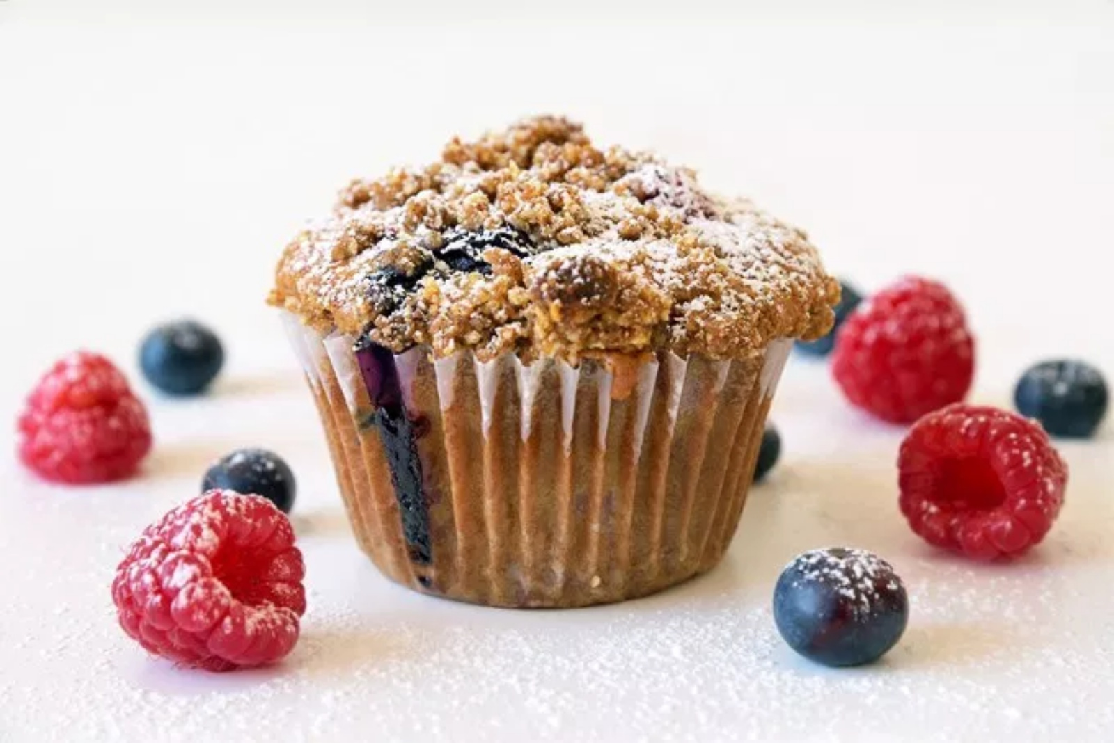 mixed berry streusel muffin