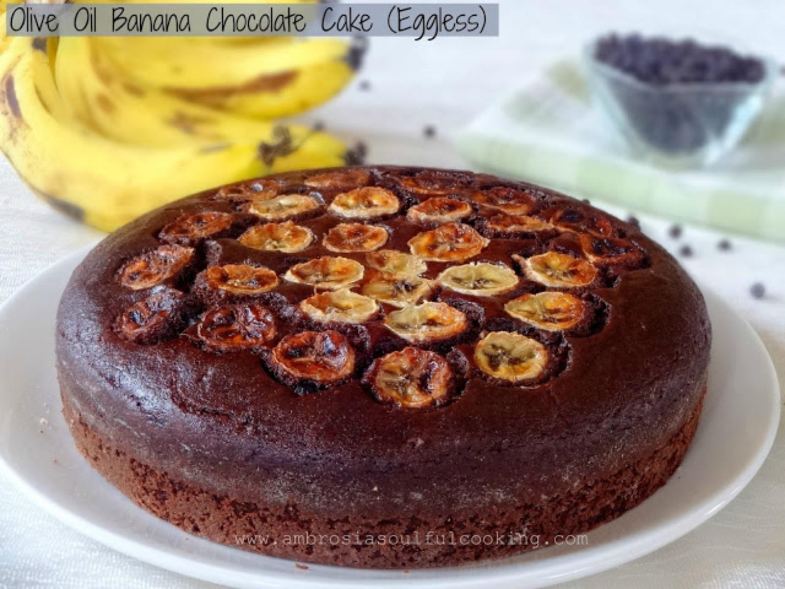 olive oil chocolate banana cake