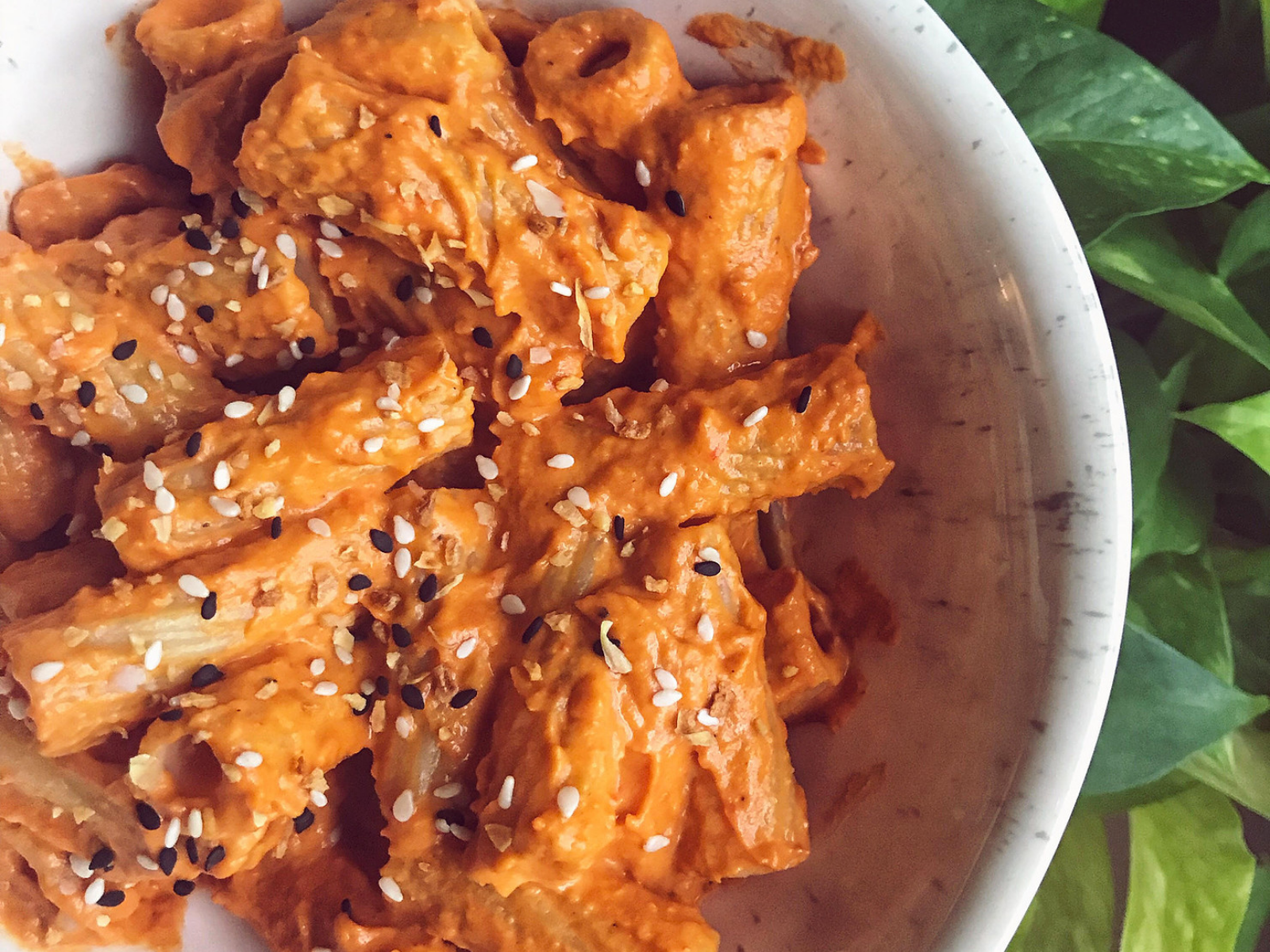 Vegan Raosted Red Pepper Pasta