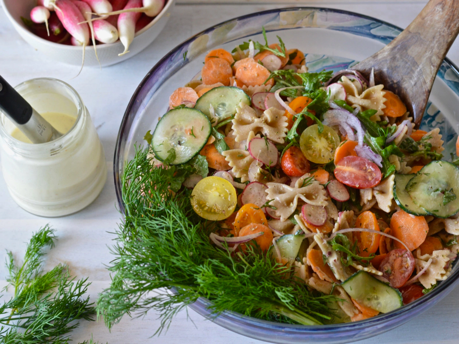 refreshing pasta salad