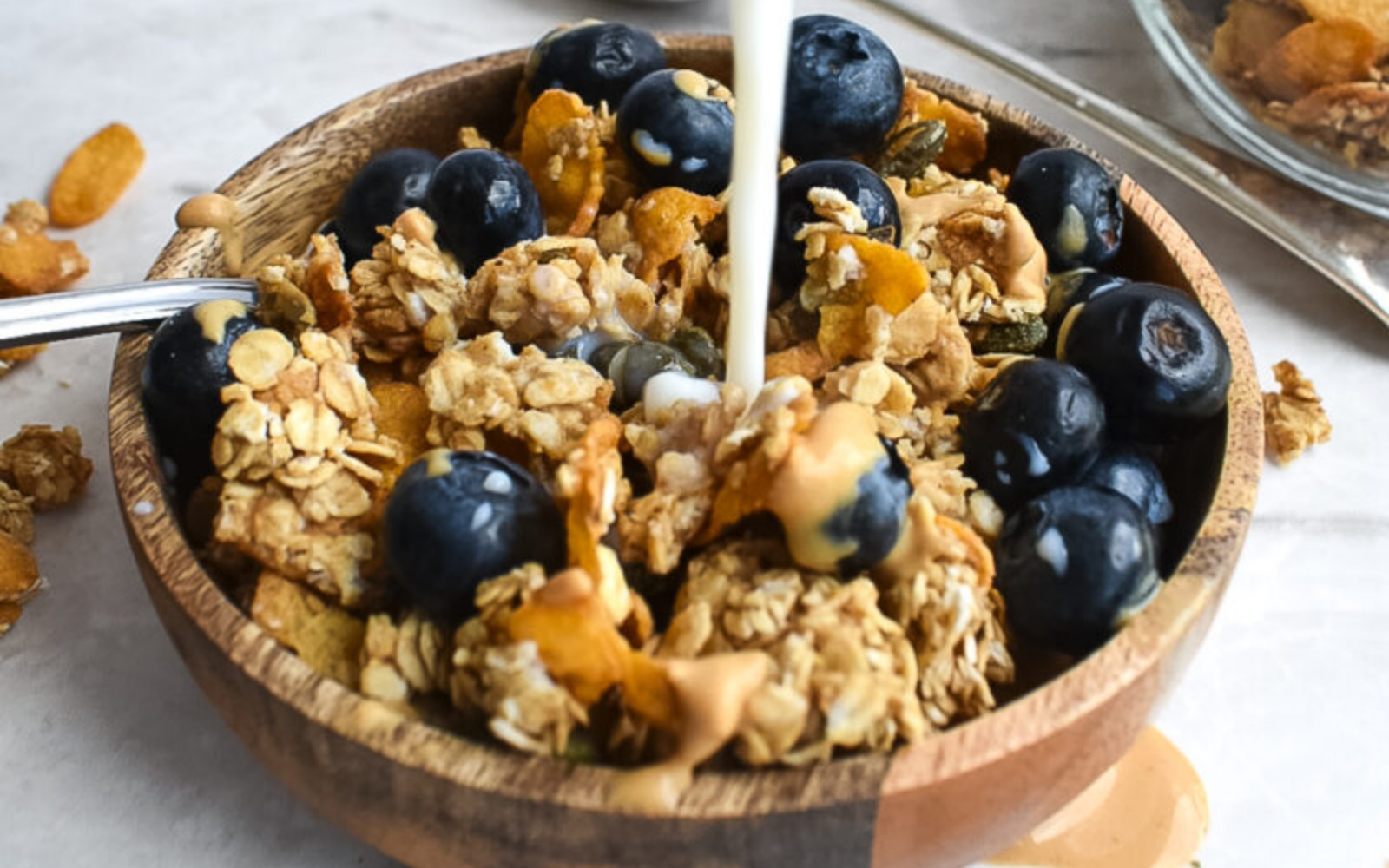 Vegan Low Sugar Peanut Butter Granola