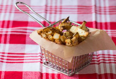 vegan adobo garlic fries